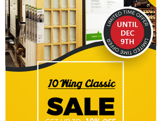 10 Wing Classic Display ON SALE