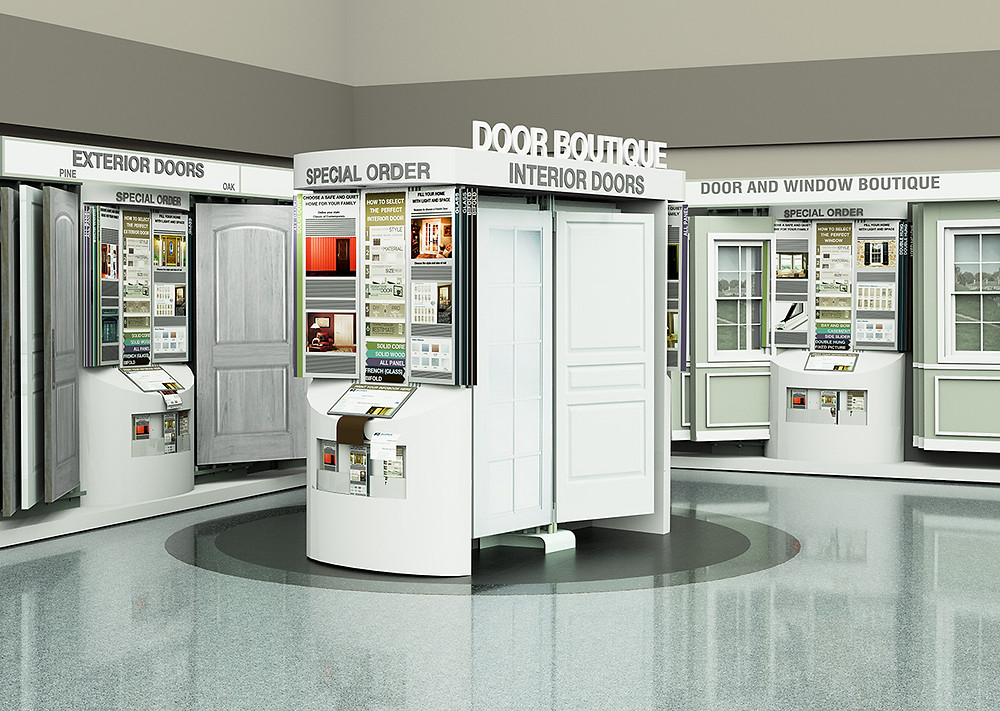 showroom concept door display and story telling pivoting systems signage systems strath elgin