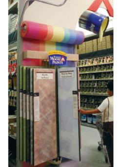PivotWing 10 panel retail display