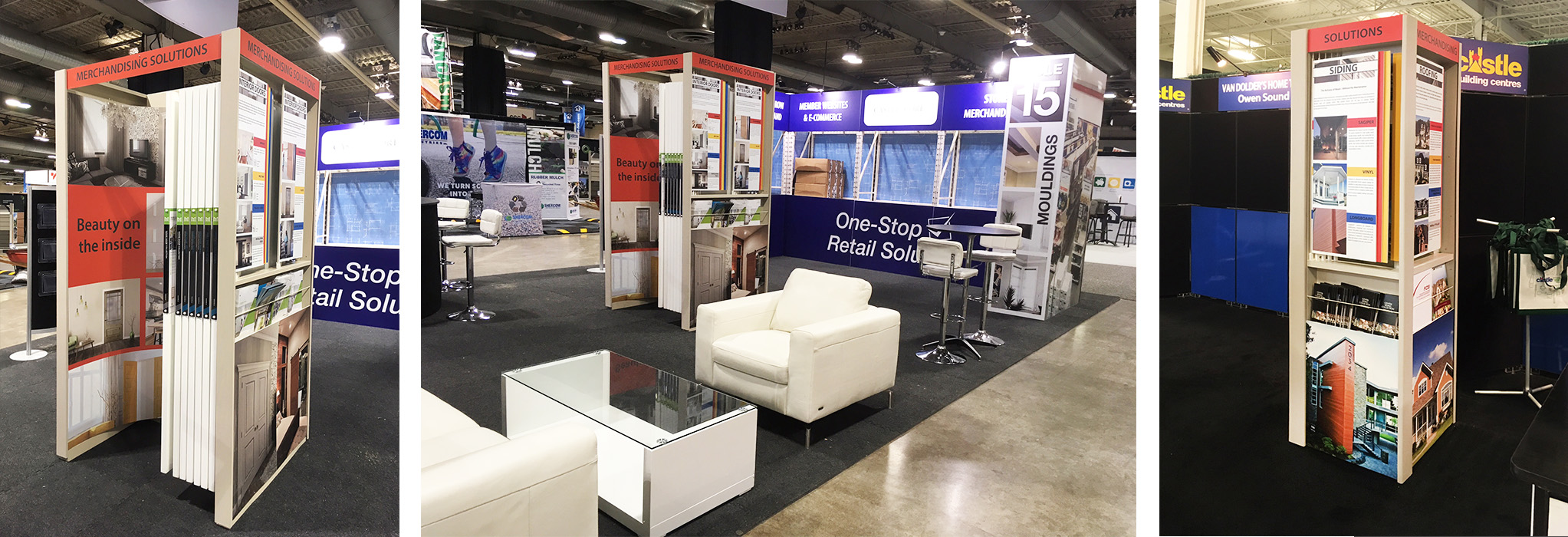 trade show displays for Castle booth