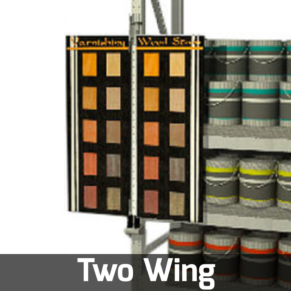 two wing rack display retail