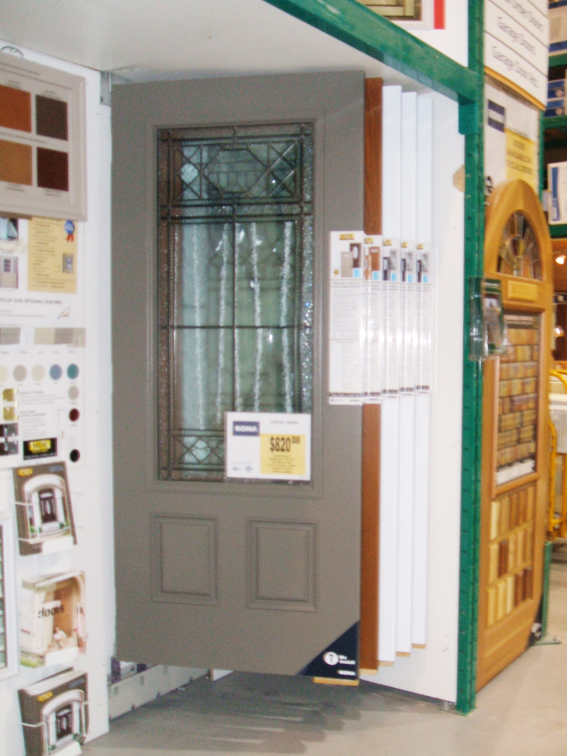 exterior doors display showroom