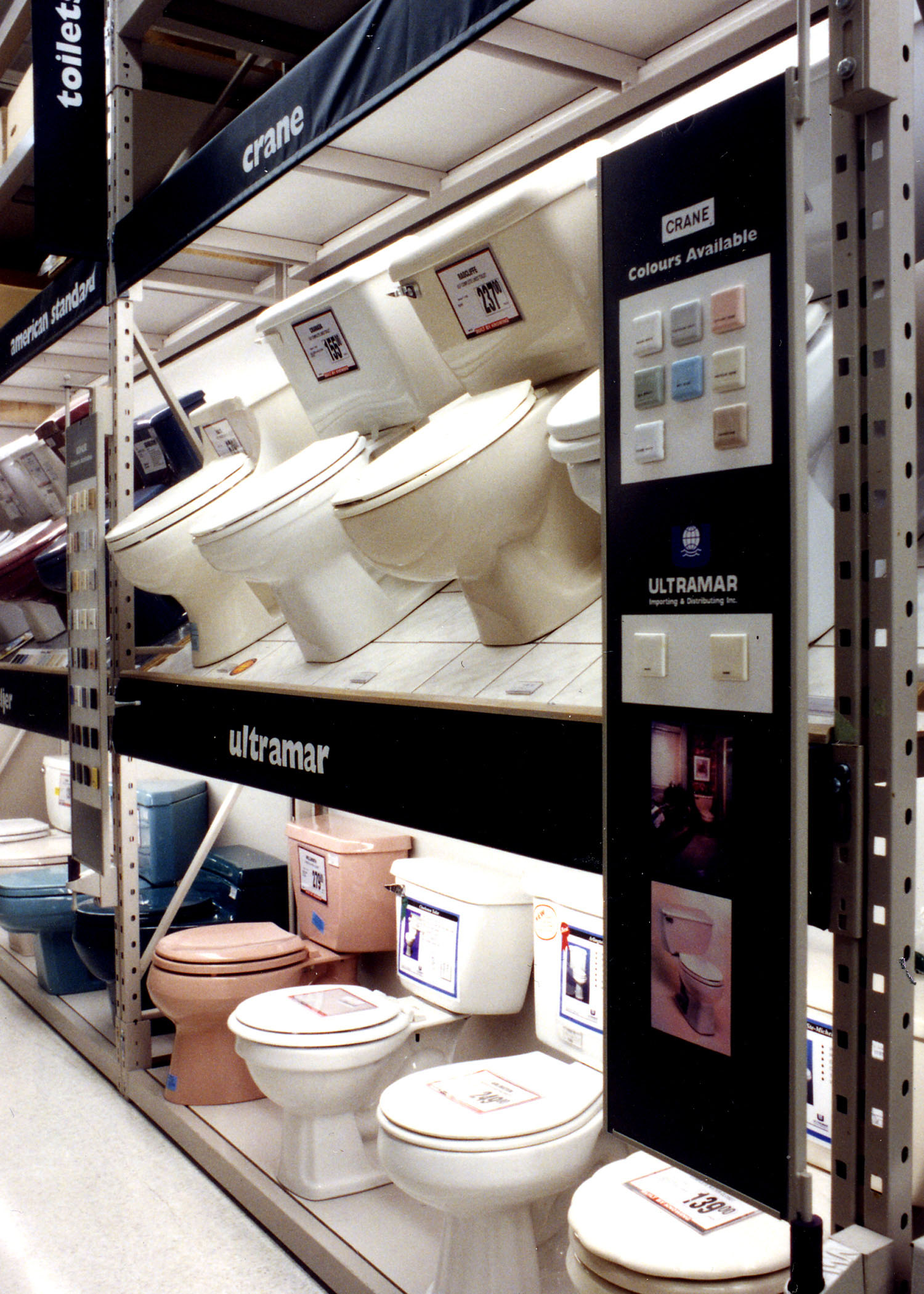 Product display - Toilets