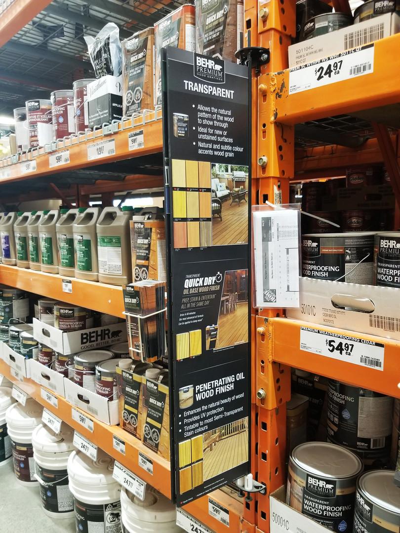Behr paint display at Home Depot Sherway Toron