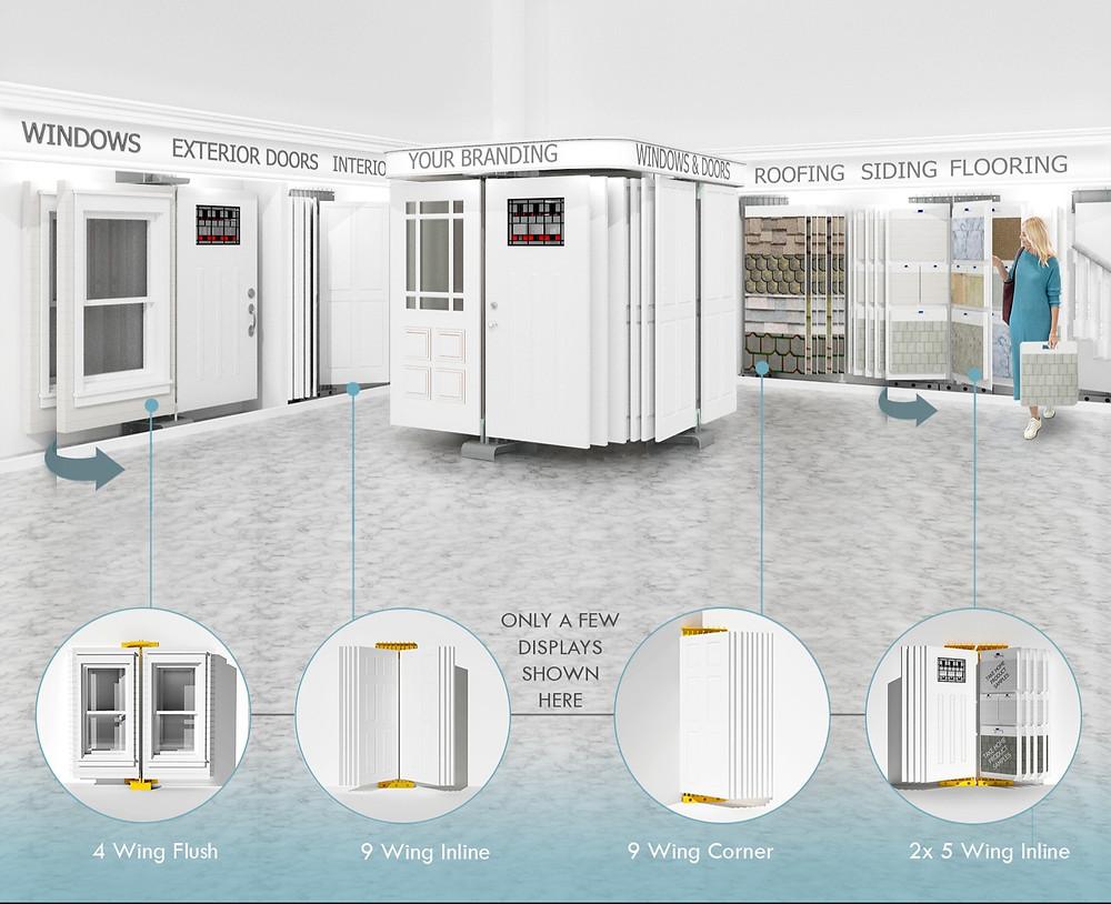 windows, doors, building products showroom design