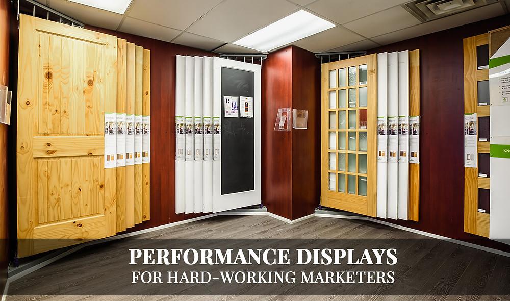 Barrie Trim Showroom retail door displays for interior and exterior doors