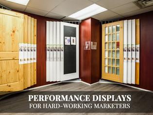 Performance doors/windows & door lites displays for hard-working marketers