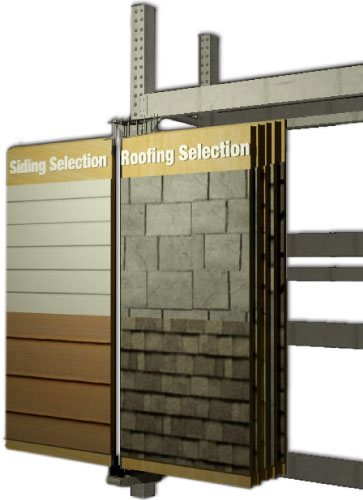 10Wing roofing display & siding display