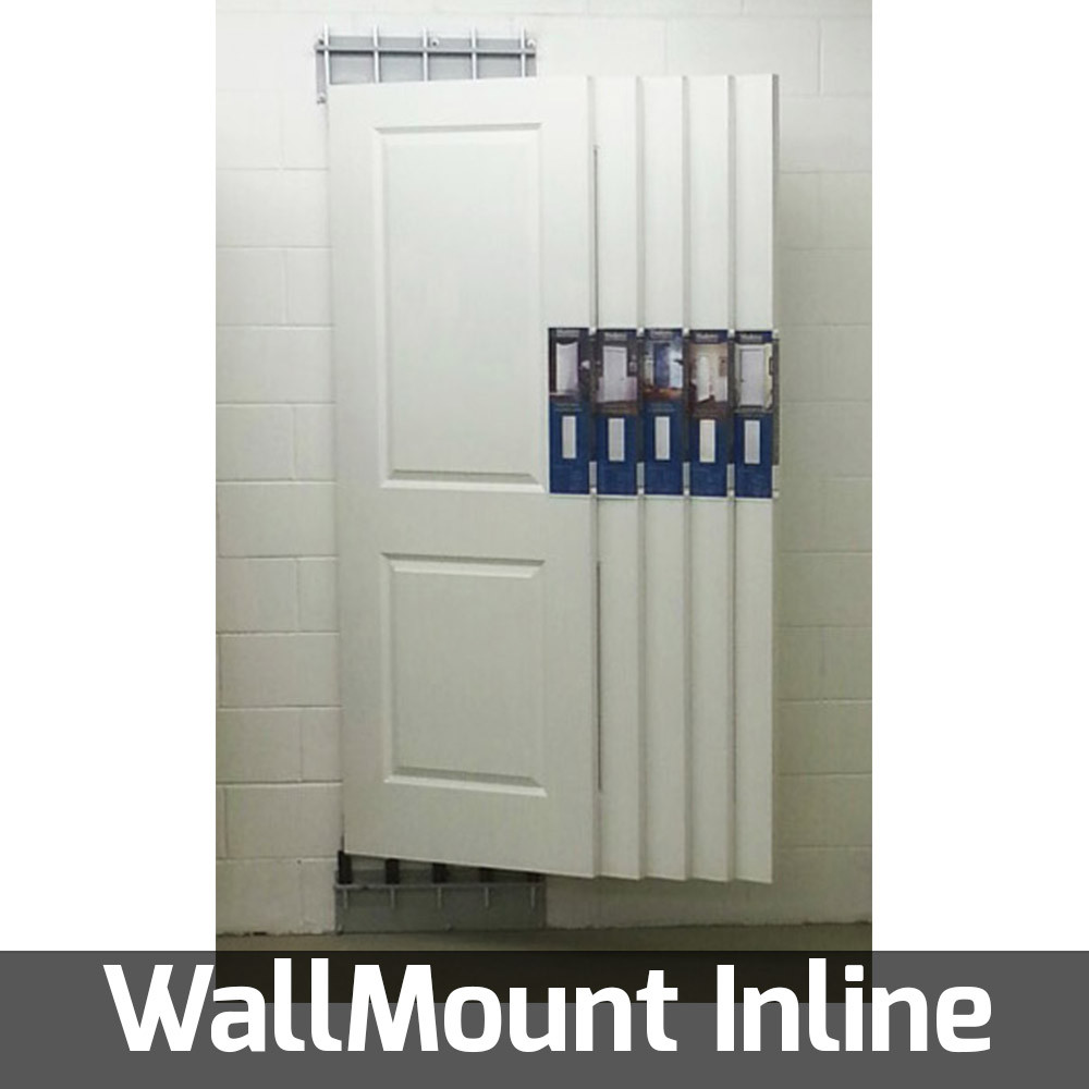pivoting door display for showroom and wall