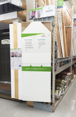 merchandising door display for rack