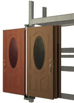 6 wing door display for rack