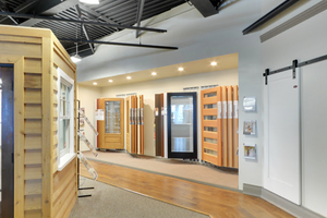 showroom display presentation of interior doors panels