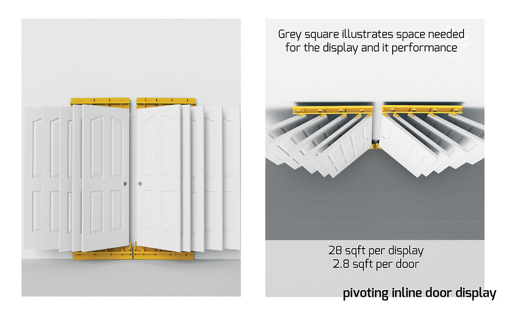 PivotWing™ Inline Doors Display System / Swinging Door Display
