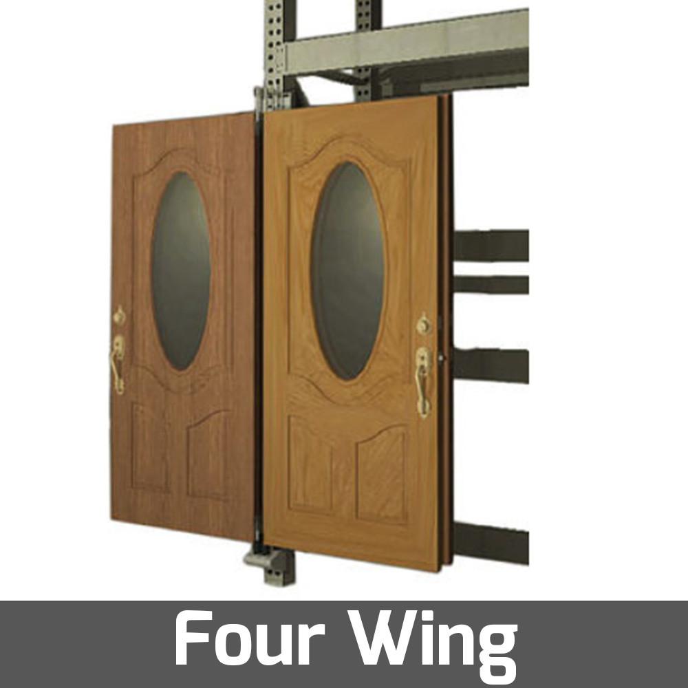 pivoting display for rack door display