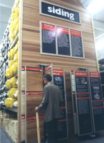 6 panel building product display