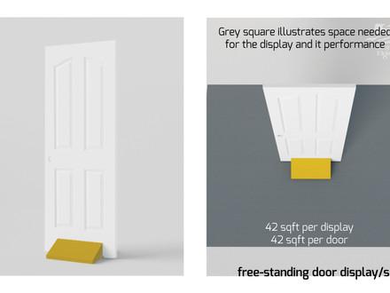 Door displays: Various retail store fixtures to display doors at your showroom: pros and cons