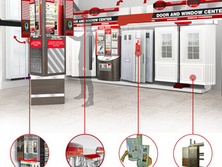 Modular Product Display Systems for Doors & Windows