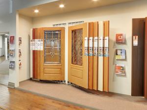wall mount door display system for door panels