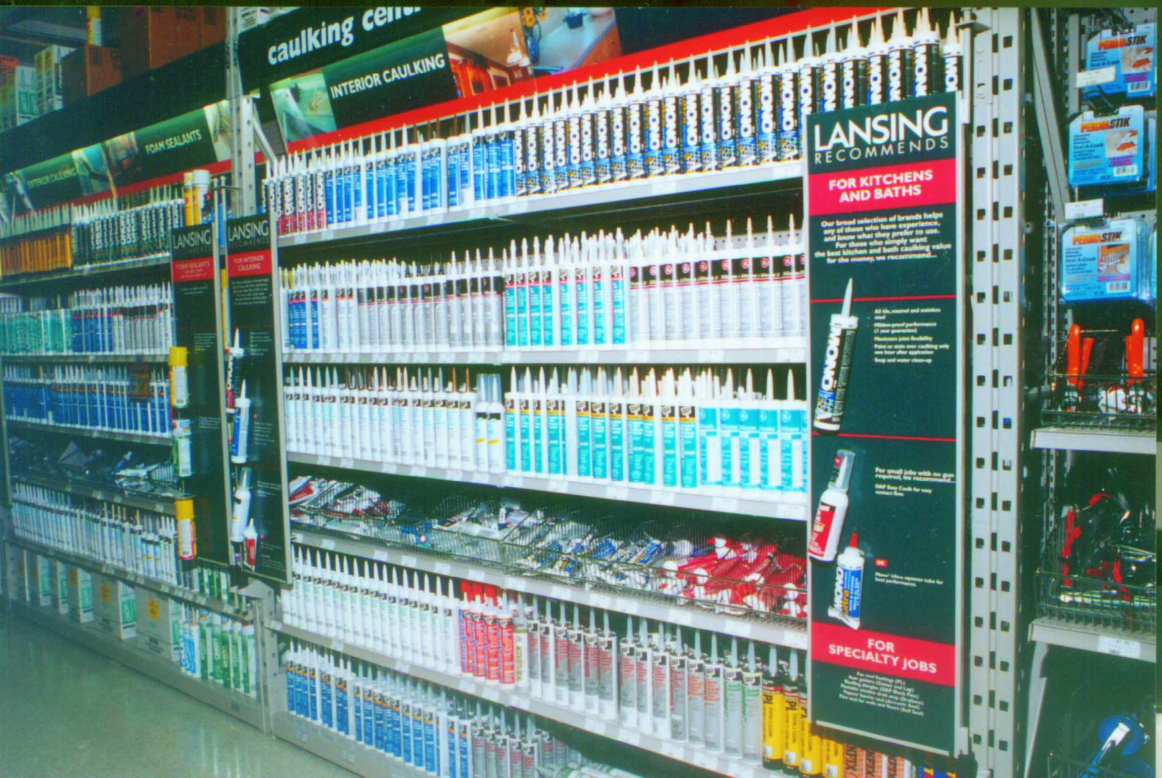 Product Display - caulking