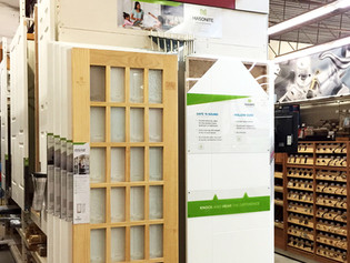 10 Wing Classic, our stock wall-mounted door slabs display