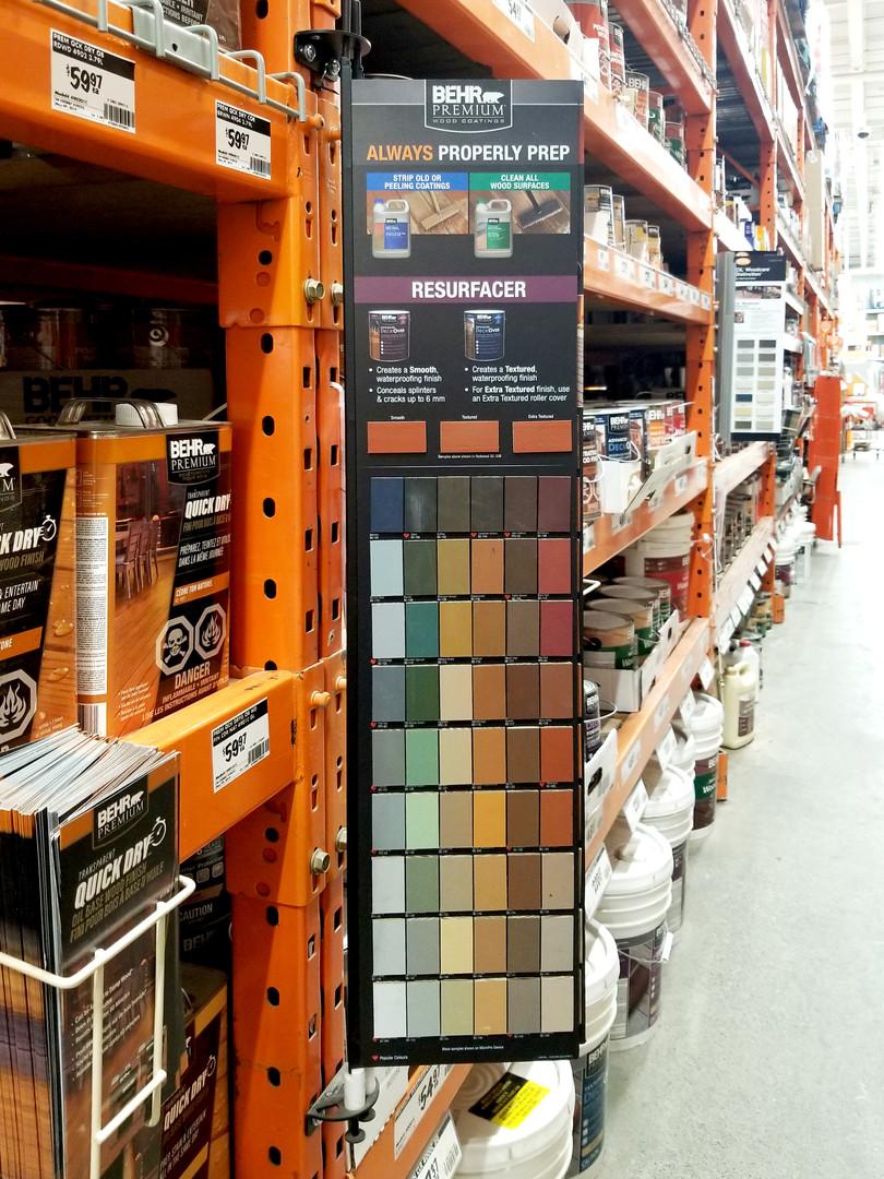 Behr display at Home Depot Sherway Toron