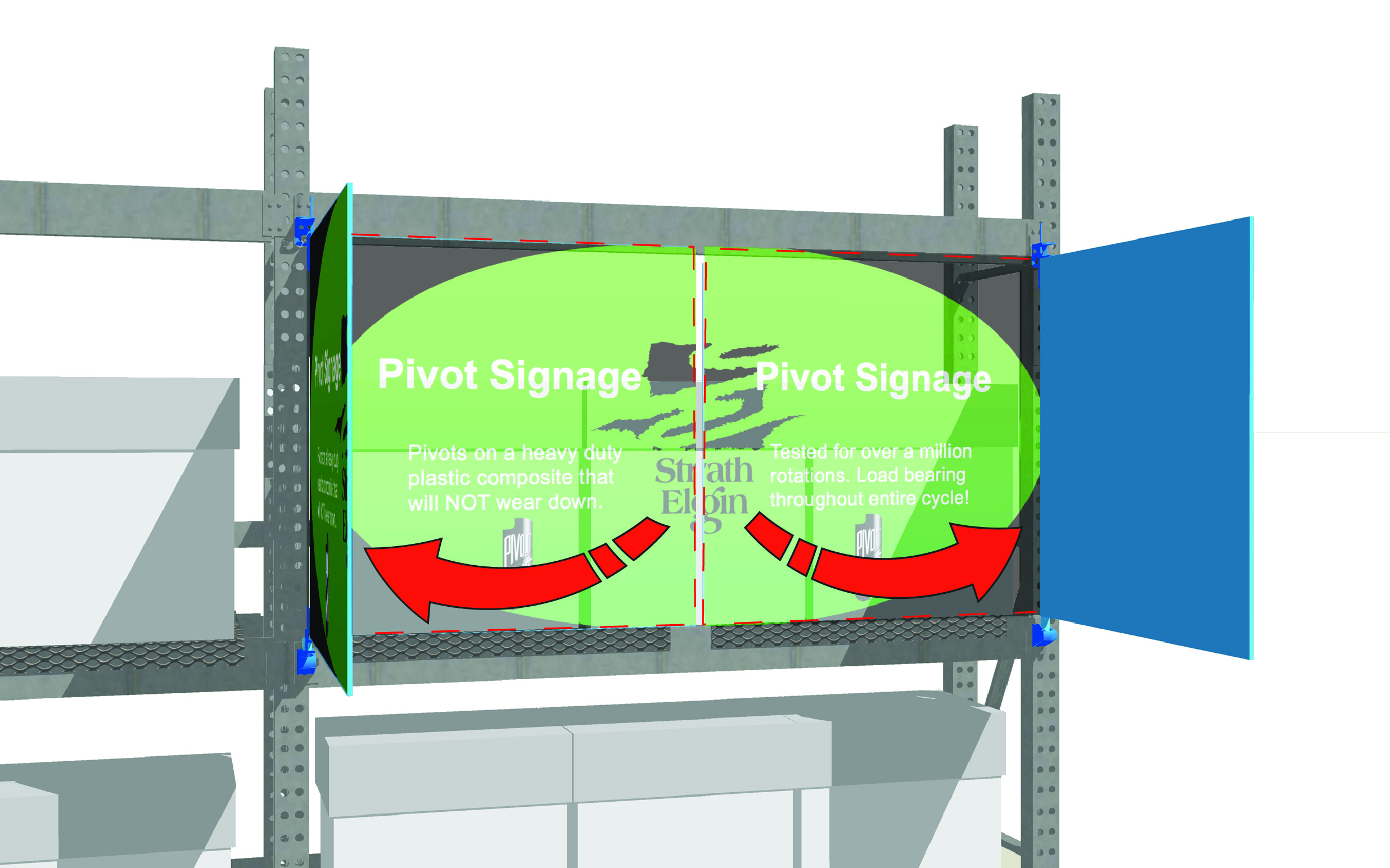 Pivot Overhead Sign