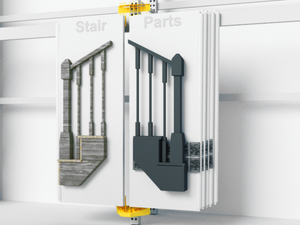 wallmount pivoting retail display for doors and building products