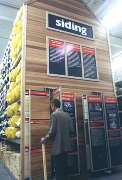 display for siding rack showroom