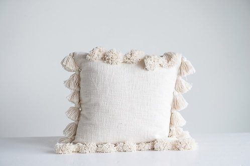 18' Square Fringe Pillow
