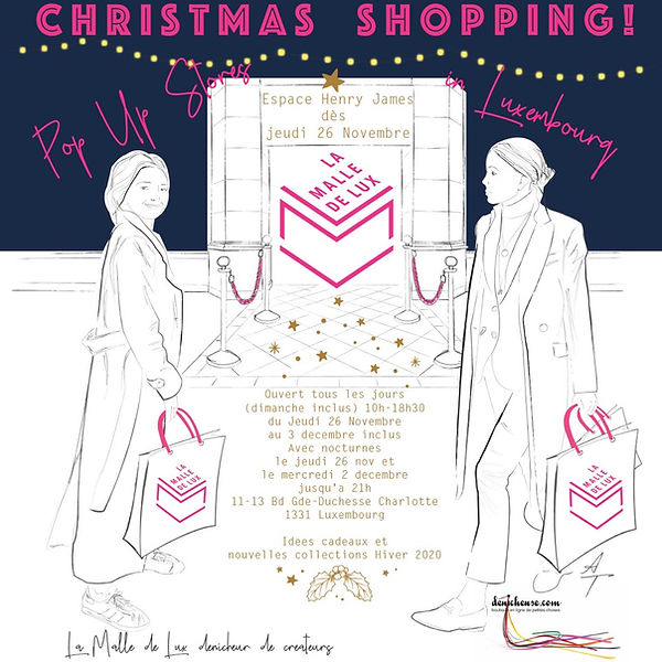 POP UP STORE CHRISTMAS SHOPPING LA MALLE