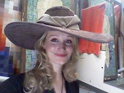 Edwardian buckram wide-brimmed hat
