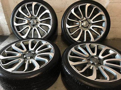 Range Rover Land Rover Vogue 5x120 Discovery 22 Inch Turbine Alloy Wheels