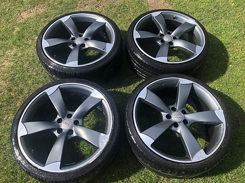 """Audi A1 S line 18 inch TTRS Rotors Style Black Edition 18 Inch Alloys 18"""" 5x100"""
