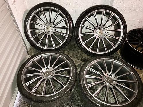 "19 Inch Mercedes C E Class CLS CLA AMG 19"" Inch Alloy Wheels Twist Style Wheels"