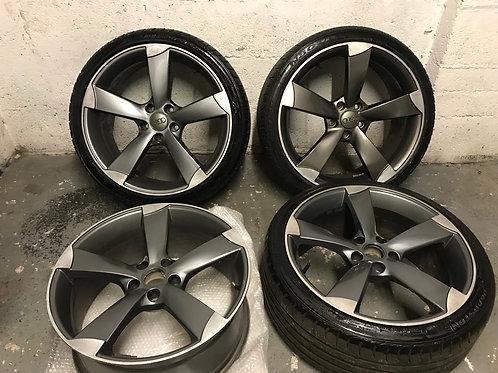 Audi 19 Inch Black TTRS Style Black Edition Alloys 5x112 A4 A5 A6 235/35/19 235