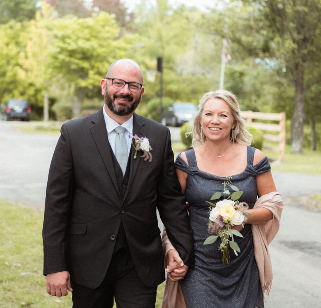 David & Tara as parents of the groom