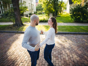 Summit Ave St. Paul, MN Engagement Session