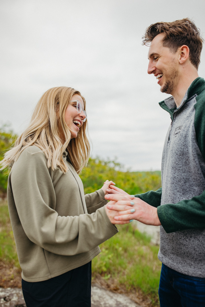 Duluth, MN Elopement photographer  Proposal Ely's Peak North Shore Photographer