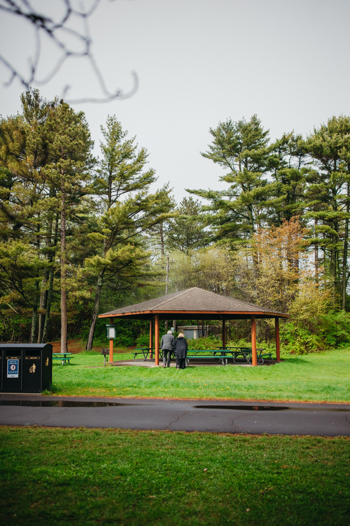 Park Point Elopement Duluth MN Elopement photographer Pavilion in the forests