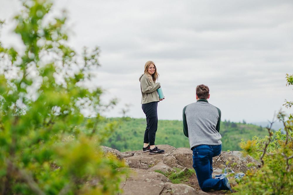 Duluth Proposal Photographer Surprise best places