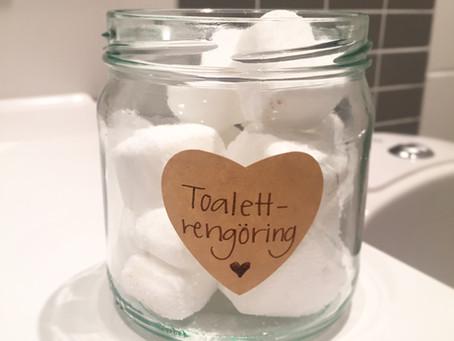 Gör din egna giftfria toalettrengöring – iform av brustablett