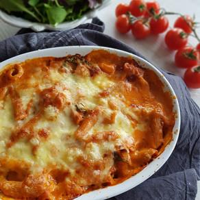 Italiensk vegetarisk pastagrattäng