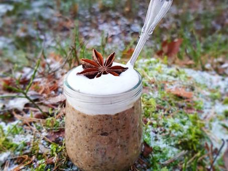 Chiapudding med pepparkakssmak & vaniljgrädde