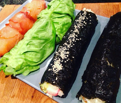 Sushi med blomkålsris