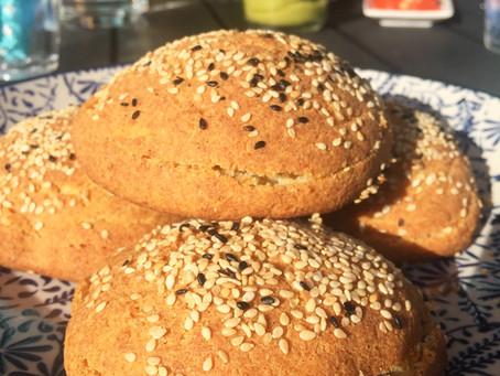 Snabba hamburgarebröd (utan gluten, mjölk eller nötter)
