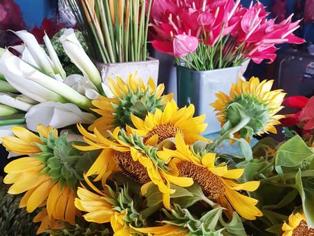 Blommor & kombucha till bröllopet
