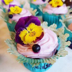Blåbärsmuffins med frosting (veganska, glutenfria & paleo)