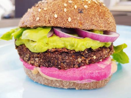 Godaste vegetariska hamburgaren (glutenfri & mjölkfri)