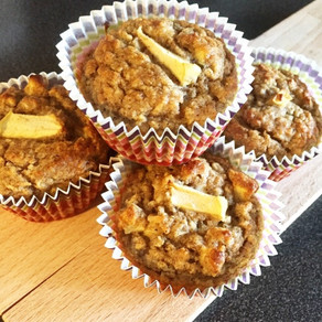 Äpple- & bananmuffins (glutenfria & mjölkfria)