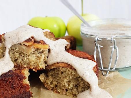 Saftig äppelkaka med vaniljkräm (lchf & paleo)